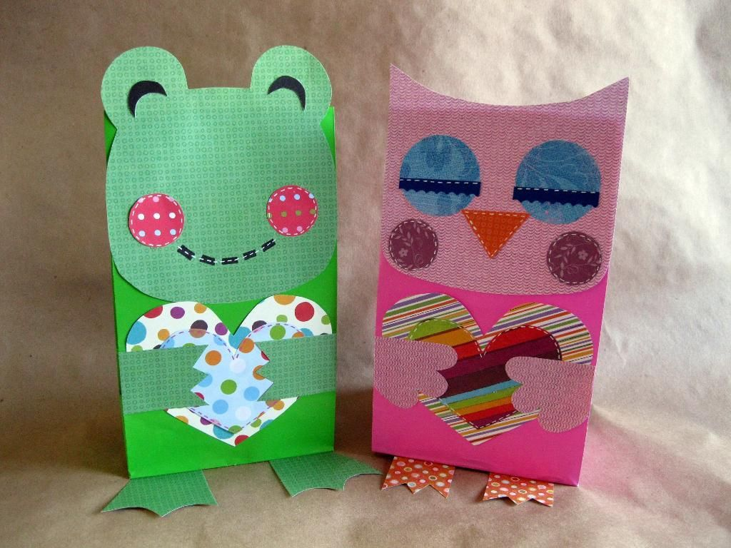 Paper Crafts Penguin Frog And Owl T Bags