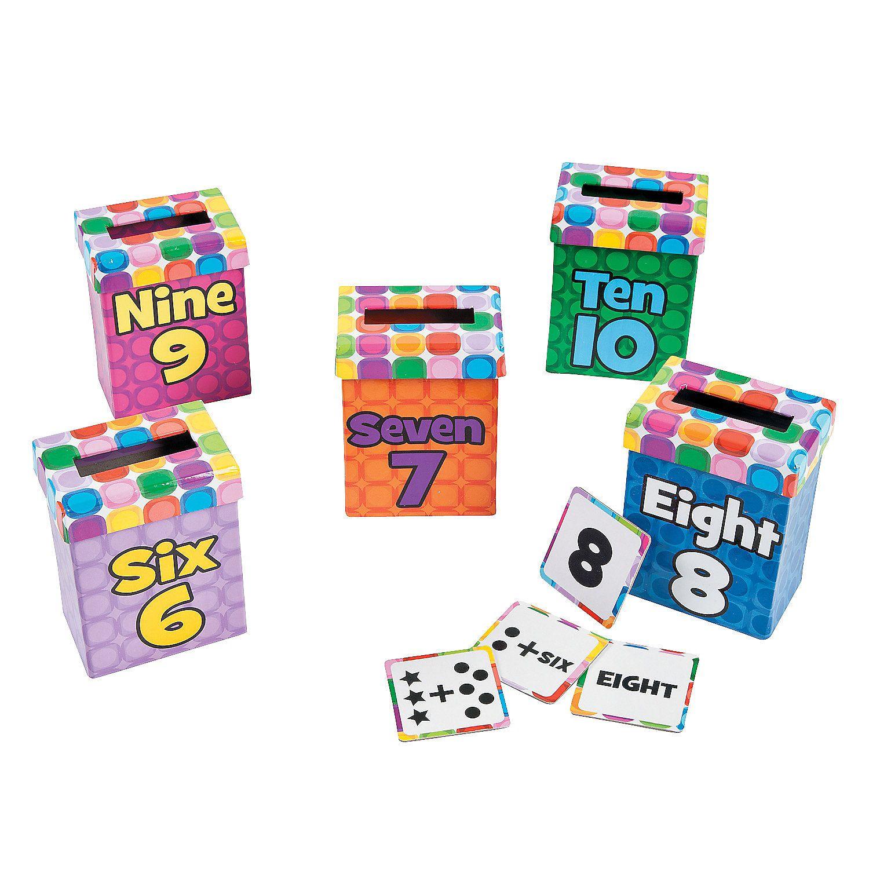 Number Sense Sorting Boxes 6 - 10 - OrientalTrading.com