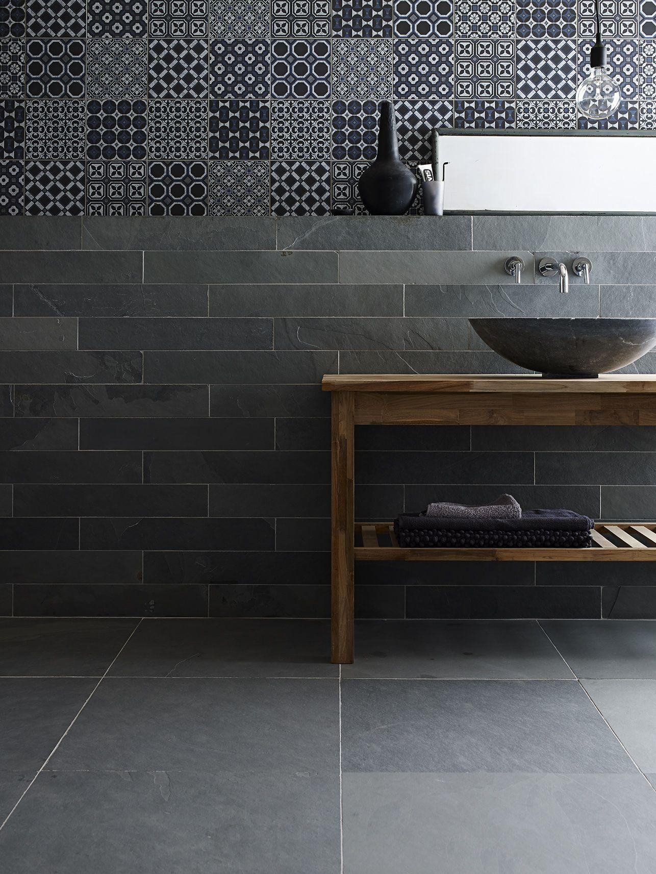Decorative Slate Tiles Gris Riven Slate Baroque Black Blue Decorative Tile With Bluestone
