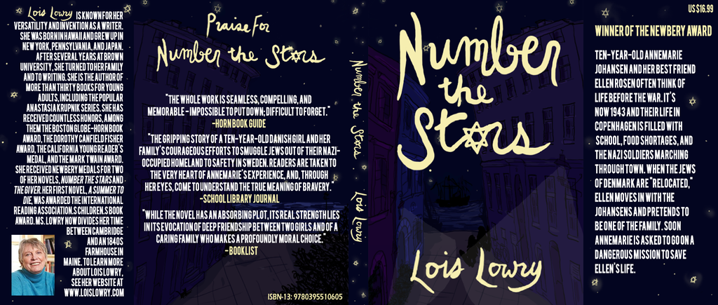 Simple Book Cover Number : Book jacket example number the stars print pinterest