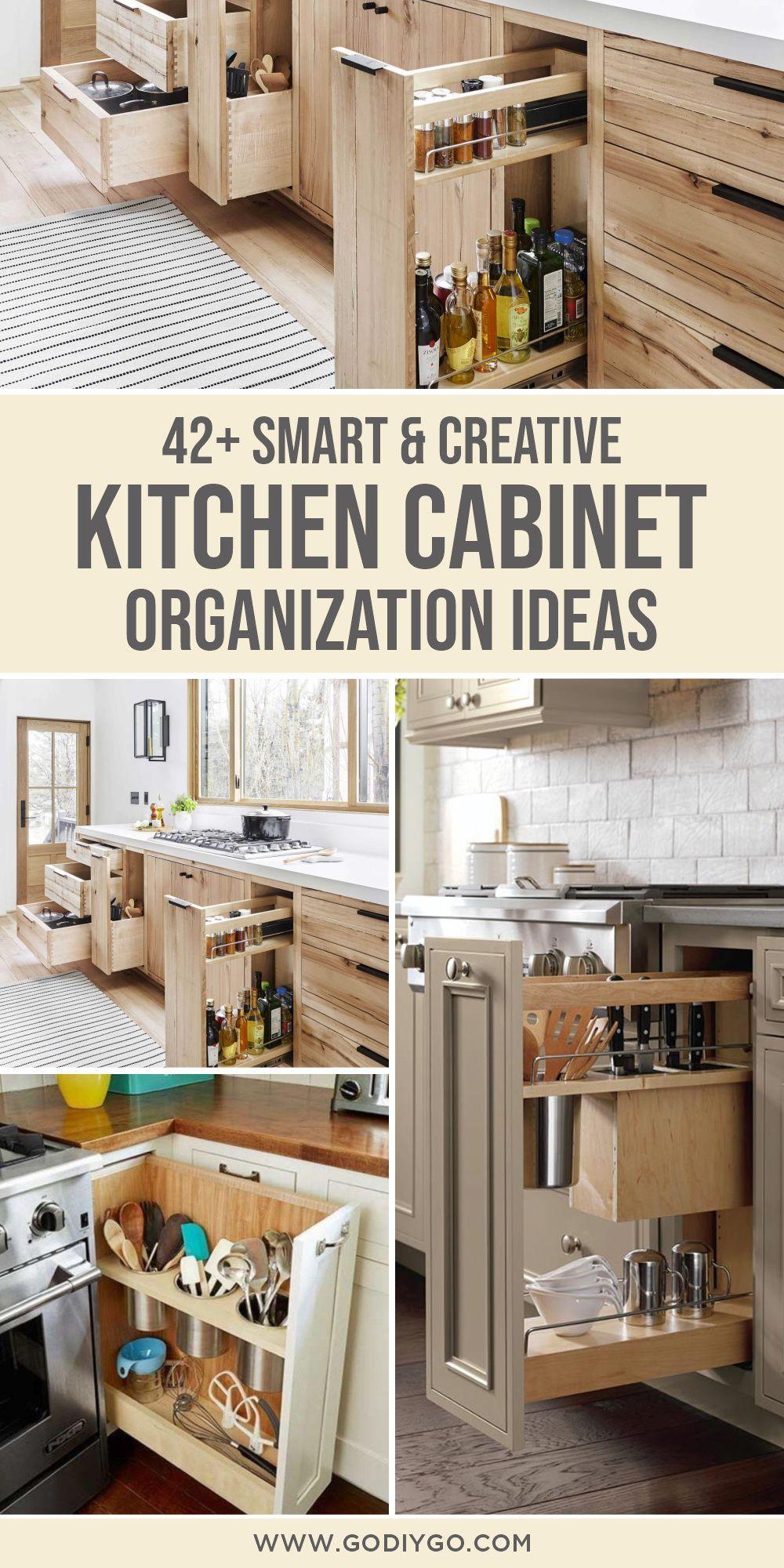 44 Smart Kitchen Cabinet Organization Ideas Godiygo Com In 2020 Kitchen Cabinet Organization Kitchen Cabinets Best Kitchen Cabinets