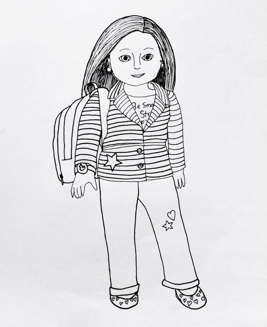 Marvelous American Girl Coloring Pages 54 My American Girl coloring