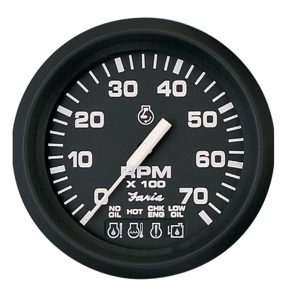 Faria Euro Black 4 Tachometer W Systemcheck Indicator 7 000 Rpm Gas Johnson Evinrude Outboard Tachometer Ignition System Gauges