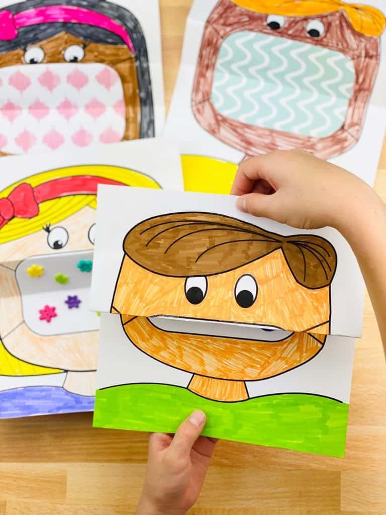 Mask Coloring Ar for Kids in 2020 Kindergarten art