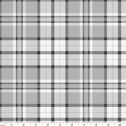 Gray Plaid Fabric by the Yard Plaid fabric, Carousel