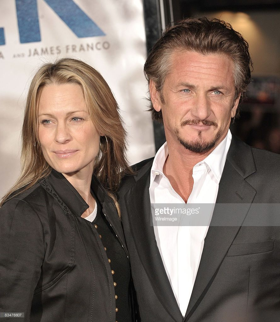 Robin Wright Penn and Sean Penn attend the premiere of 'Milk' hosted by Levi's at the Castro Theater on October 28, 2008 in San Francisco, California.
