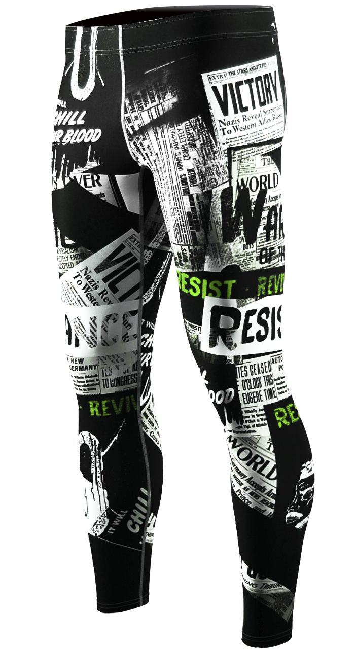 dfeb73963e zipravs High Quality Sublimation printing compression tights   mens ...