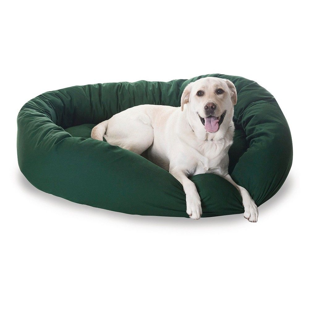 Super Majestic Pet Heavy Duty Denier Bagel Bed Green Xlarge Machost Co Dining Chair Design Ideas Machostcouk