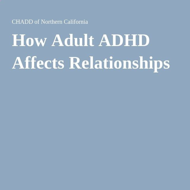 Dating adult with adhd