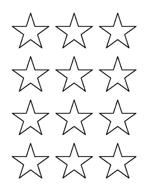 2 inch star pattern. Use the printable outline for crafts ...
