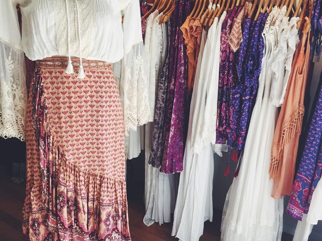 Good morning from our sunny showroom || open 9am till 4pm today || Come and try on the new Sunset Road collection by  #spelldesigns ||  x x