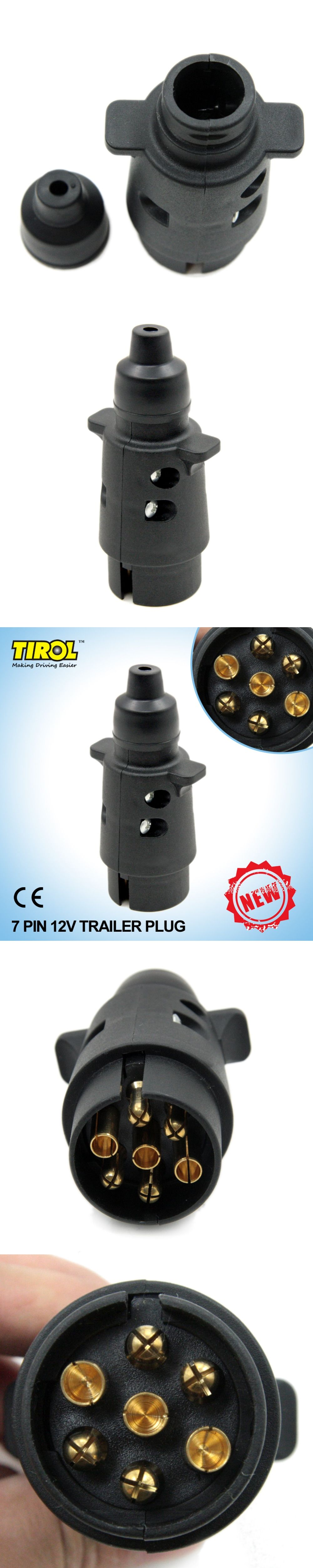 Tirol New 7 Pin Trailer Plug Black Frosted Materials Pole Connector Wiring