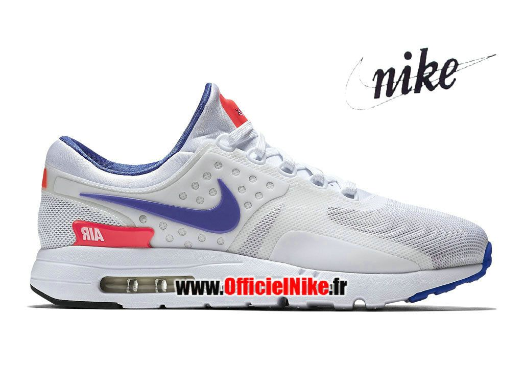 official photos d0163 db5ed Homme Chaussures Nike Air Max Zero BlancRouge solaireNoirUltra marine  789695