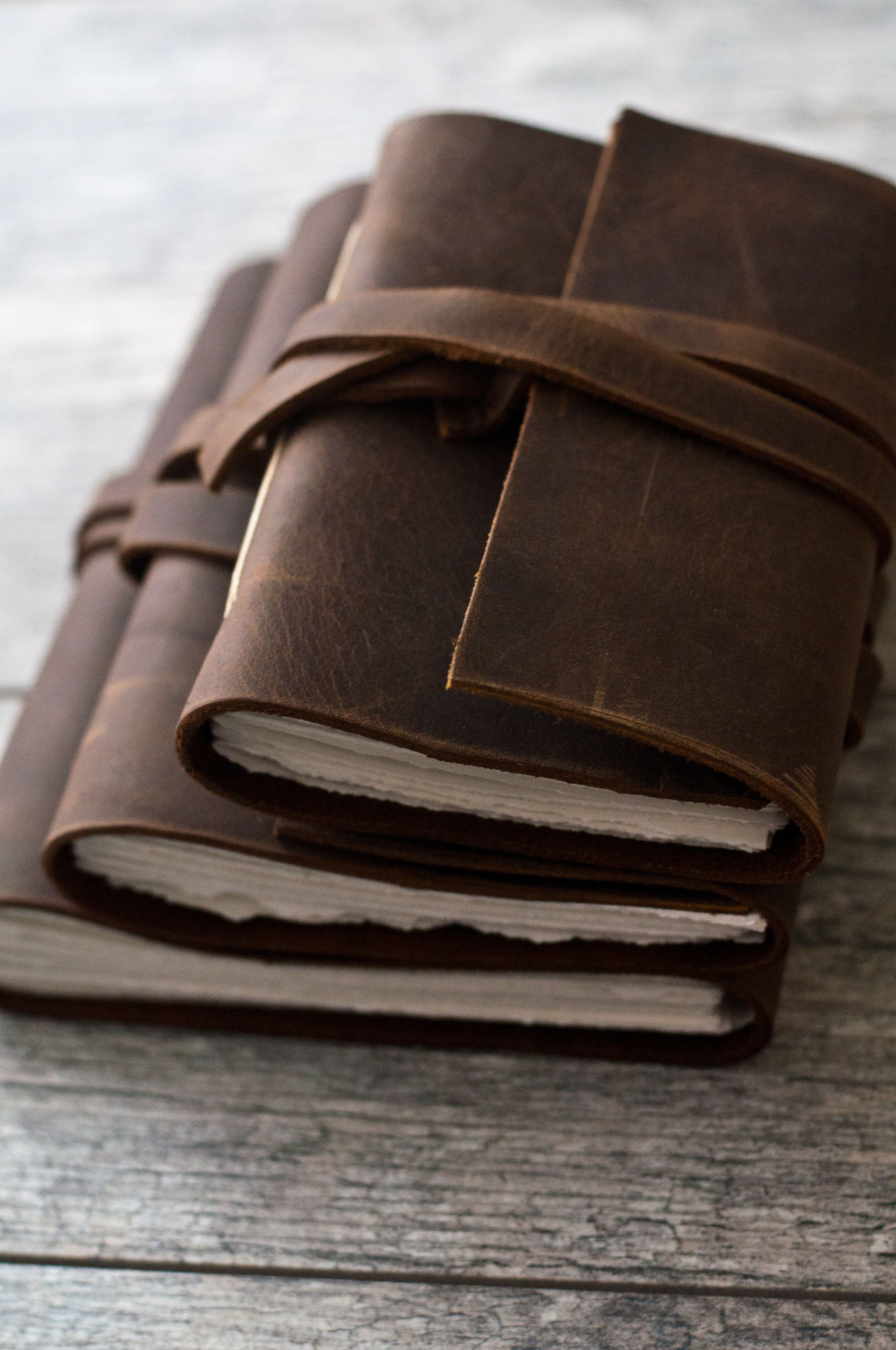 5fdee66c325d Handmade Rustic Brown Leather Journal | DIY projects | Leather ...
