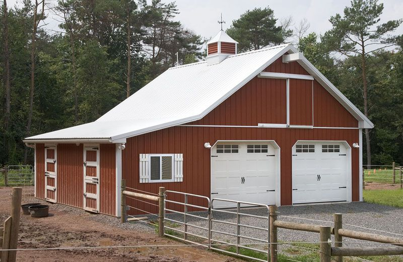 Custom garage horse barn combination mom pods for Carport shop combo