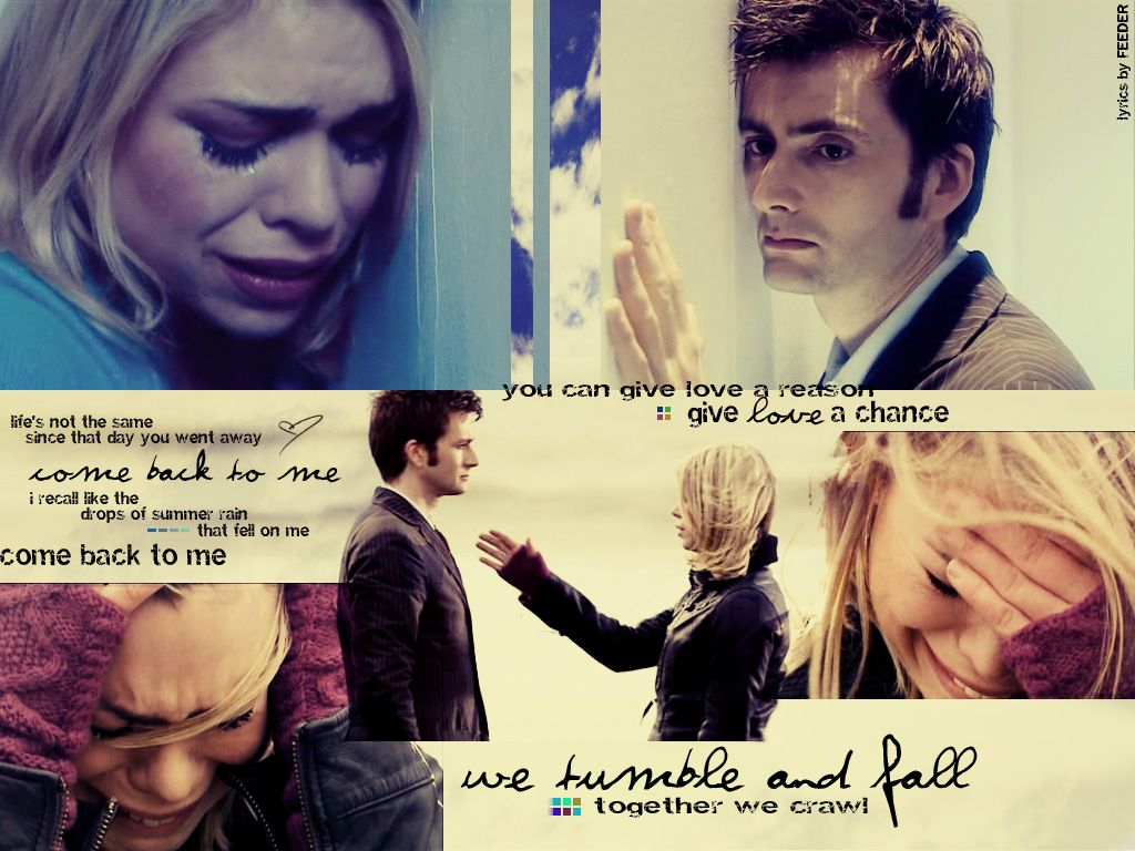 433cf660b73 Rose Tyler David Tennant Billie Piper Doctor Who Tenth Doctor / 1024x768  Wallpaper