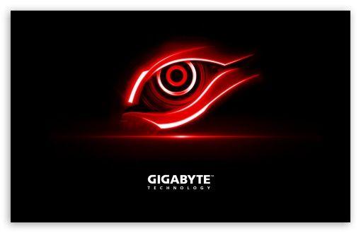 Gigabyte Red Eye Hd Desktop Wallpaper Widescreen High Definition Fullscreen Mobile Technology Wallpaper Gigabyte Eyes Wallpaper