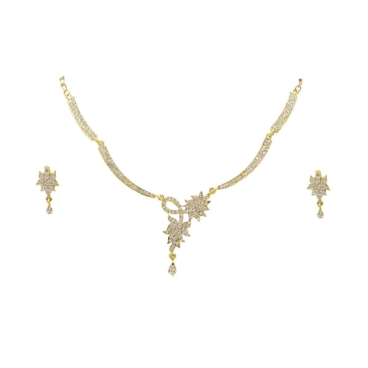 Gold Plated Cz/ad Designer Antique Jewellery Set Bridal Casual Party Wearu2026  sc 1 st  Pinterest & Gold Plated Cz/ad Designer Antique Jewellery Set Bridal Casual Party ...