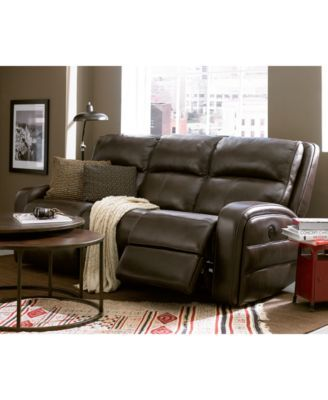 Hannon Leather Power Motion Sofa Family Room Furniture Sofa