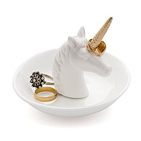 Balvi - Unicorn ceramic ring holder. Rings and jewellery tray. Made of ceramic. Unicorn shape.