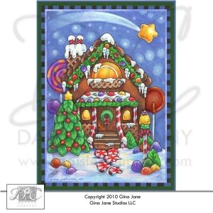 Printable christmas cards and envelopes gingerbread house gina printable christmas cards and envelopes gingerbread house gina jane designs daisie company solutioingenieria Gallery