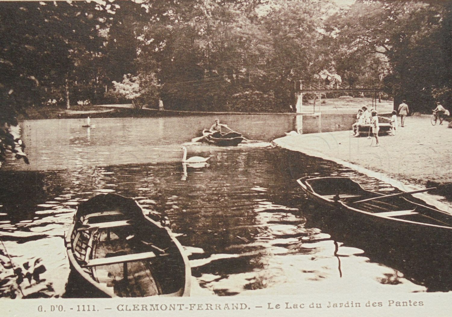 French Vintage Unused Postcard - Jardin des Pantes, Clermont-Ferrand, France by ChicEtChoc on Etsy