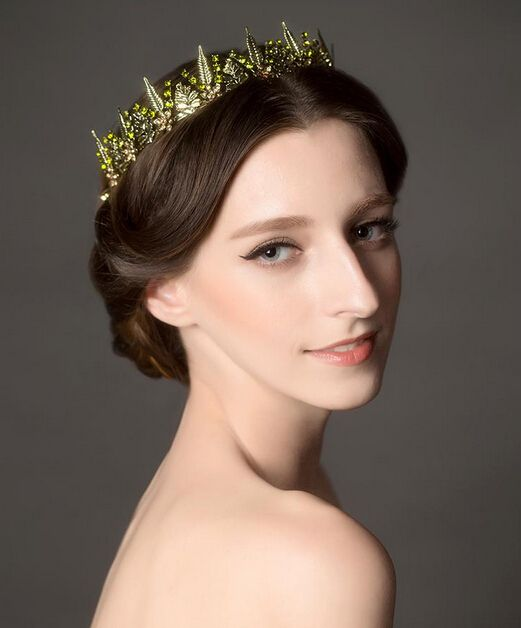 Jewelry crystal green crown tiara women's bridal hairwear party wedding accessories head decoration lady hairbands-in Hair Jewelry from Jewelry on Aliexpress.com | Alibaba Group
