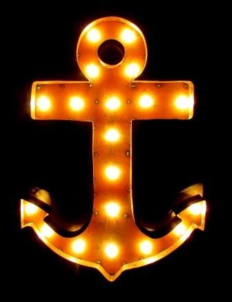 """Anchor Marquee Light 24""""  Indoor or Outdoor use, comes with light-bulbs and cord. $160"""