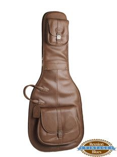 Reunion Blues Product Sonoma 46 Electric Bass Guitar Bag Chestnut Brown Leather Vintage Bass Guitar Guitar Bag Guitar Accessories