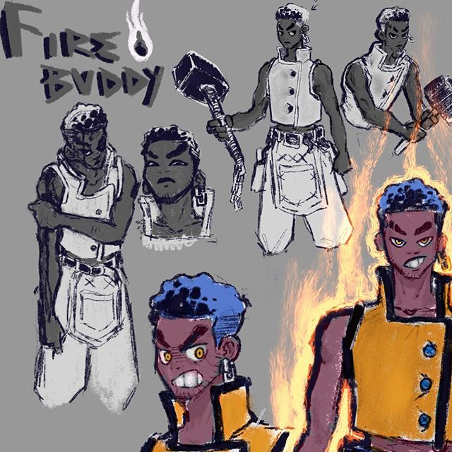 [New] The 10 Best Art Ideas Today (with Pictures) - Fire Buddy A champion blacksmith a wild temper and un-wilting confidence this character is the time to run in head first towards any problem. Hes still someone I think could change drastically throughout the course of creating this comic. Character Creator: @foli.b . . . . . . . . . . #artist #artistsoninstagram #artistsofinstagram #art #artsy #artwork #instaart #instaartist #commissions #robbbdraws #anime #manga #digital #procreate #digitalar