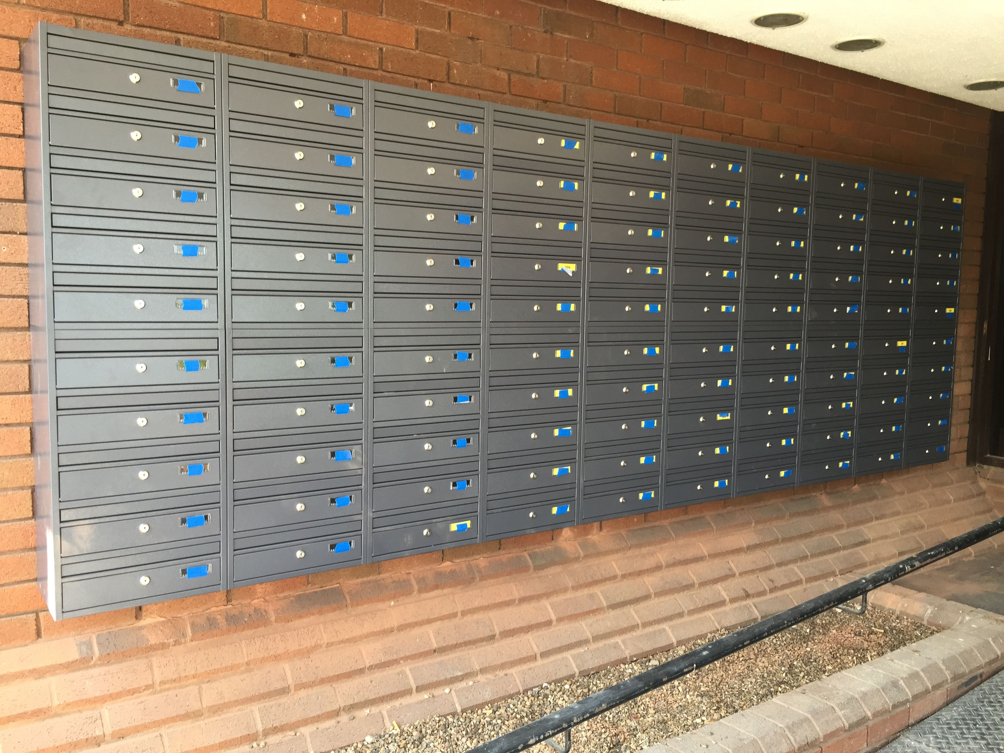 Urbaneasy E1 Wall Mounted Communal Letterboxes Wall