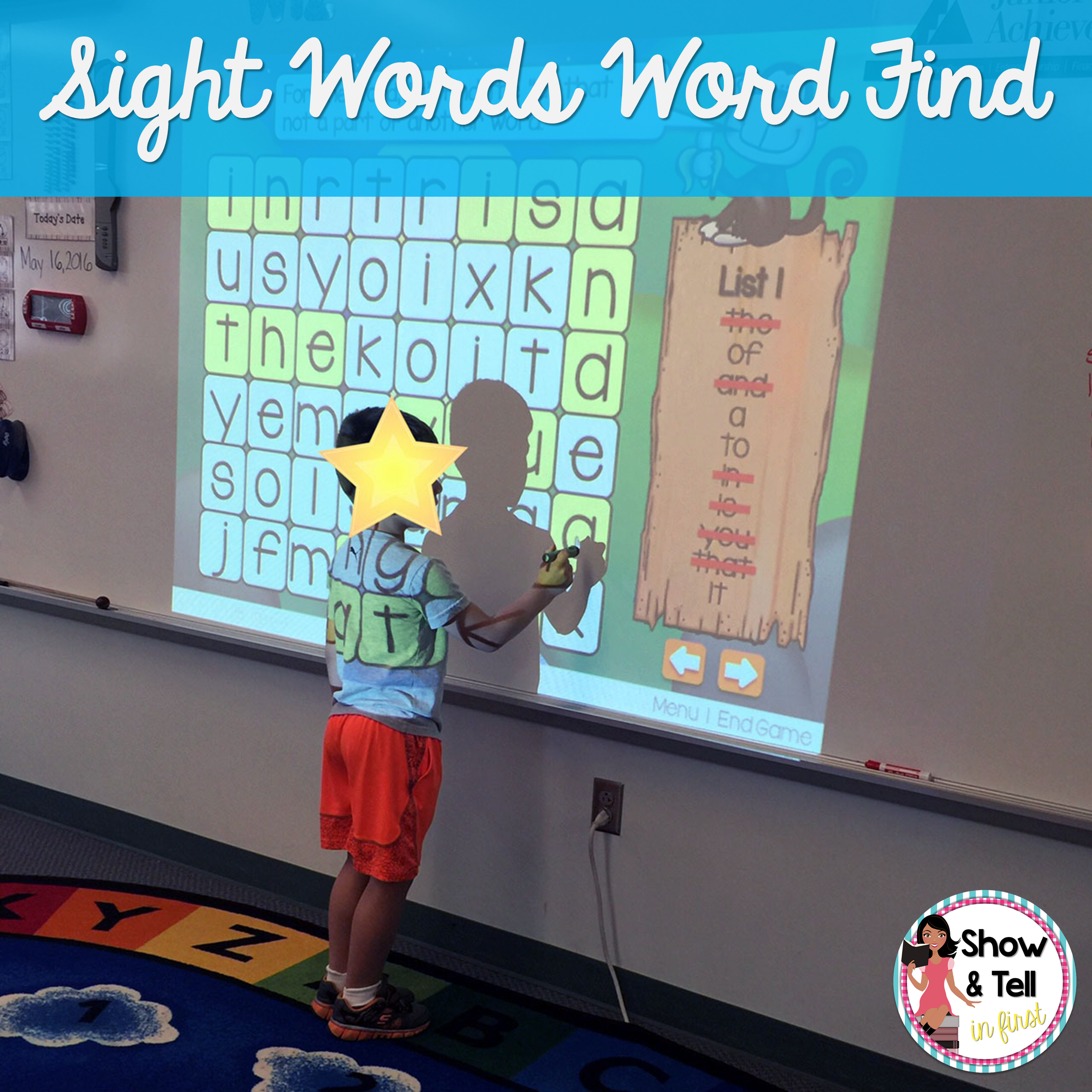 Sight Words Word Find Level 1 Powerpoint Amp Printables