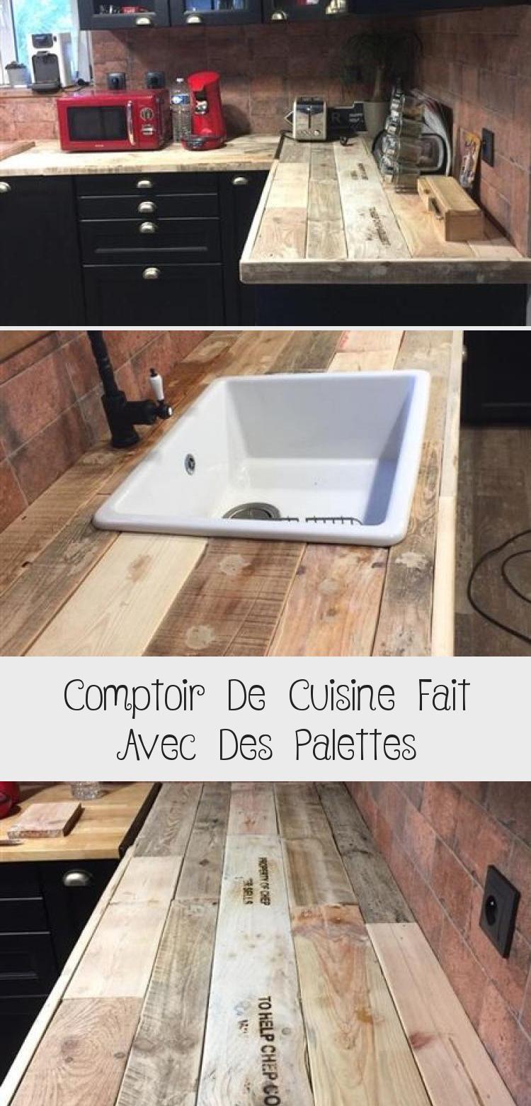 Comptoir de cuisine fait avec des palettesMeuble en Palette