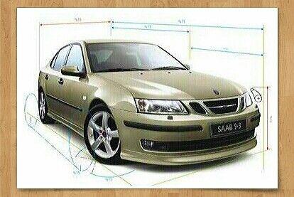 Saab Dealership Poster For The 2004 Saab 9 3 Sports Sedan Rare Color Saab Sports Sedan Saab 9 3