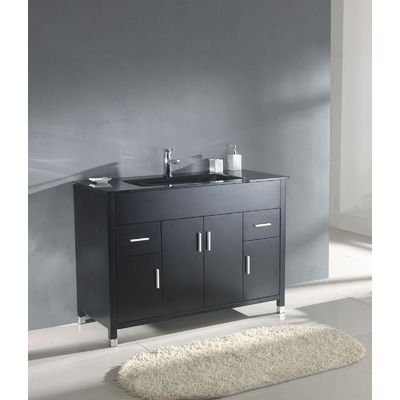 "821$ Legion Furniture 48"" Single Bathroom Vanity Set in Espresso"