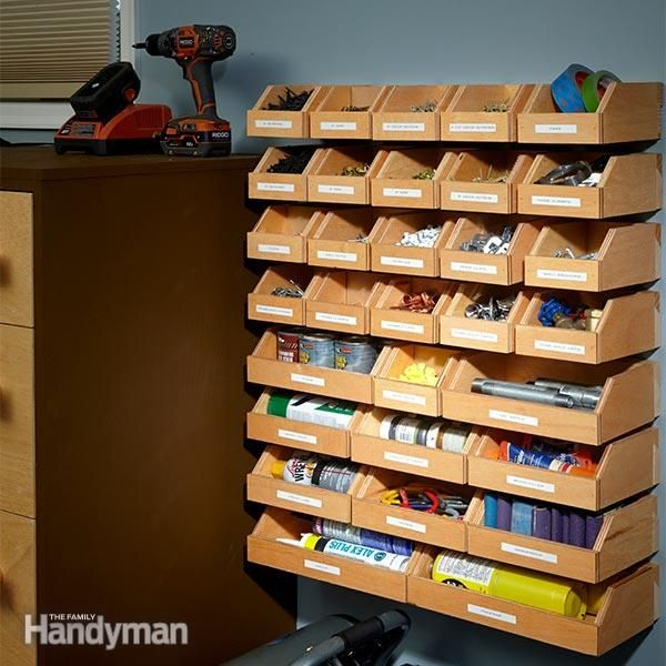 Garage Shelving Plans Hardware Organizer