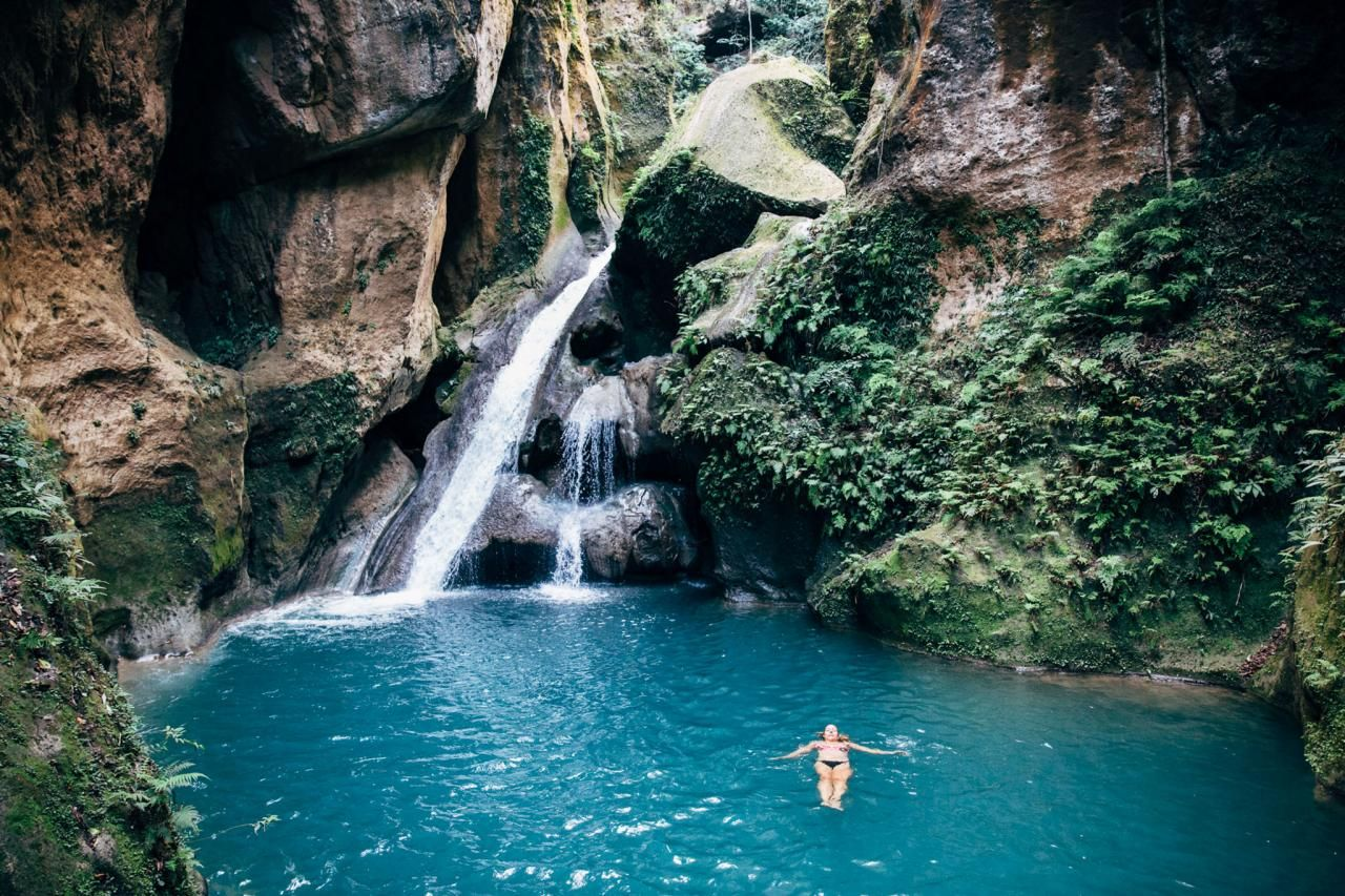 Top Secret Swimming Holes Around The World Haiti Blue Pool And Swimming Holes