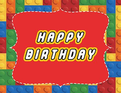 Lego Happy Birthday Party Sign Printable By Printabledigidesigns
