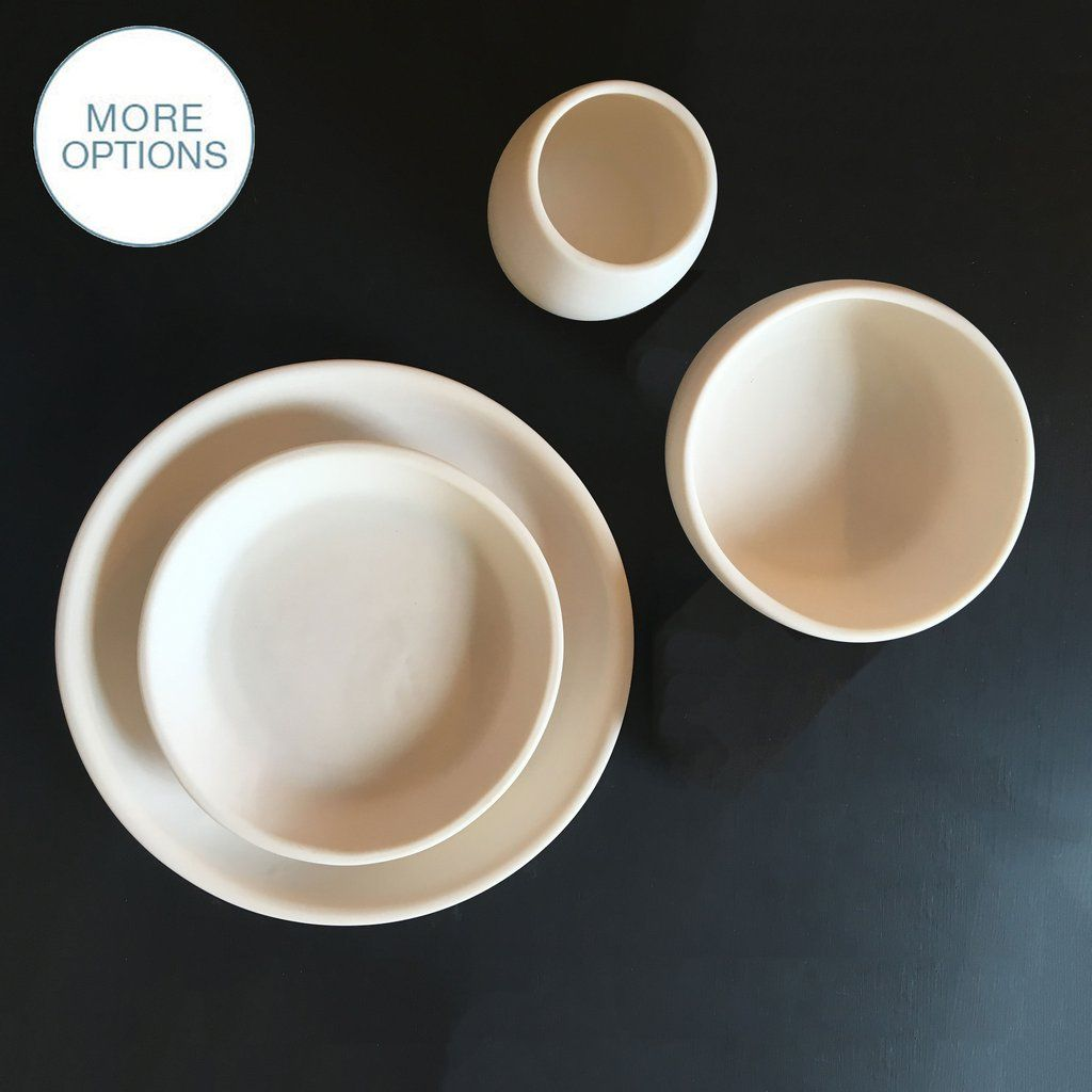 Matte Porcelain USA Made Coupe Dinnerware Set & Matte Porcelain USA Made Coupe Dinnerware Set u2013 Hammers and Heels ...