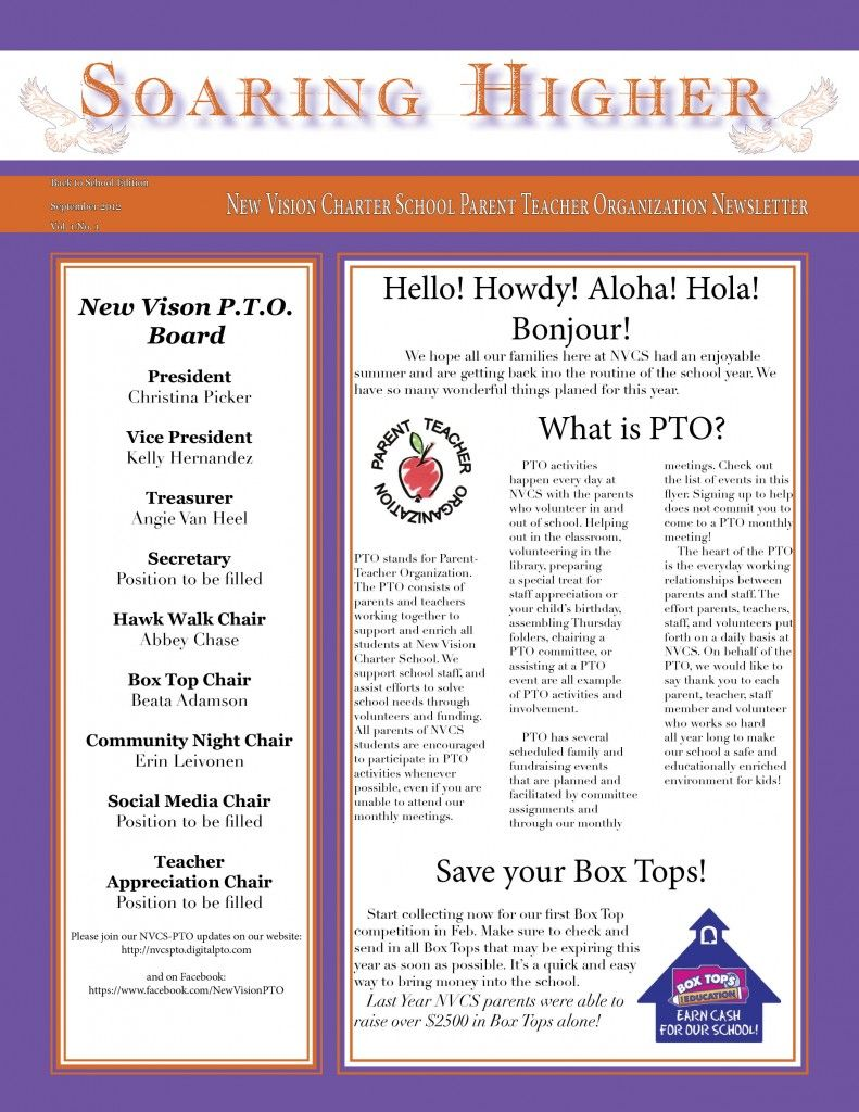 pta newsletter templates