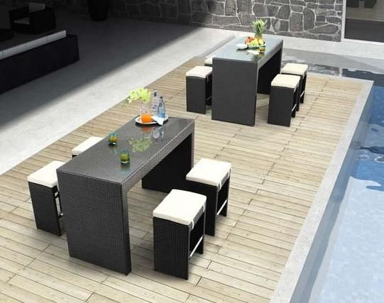 Stone Top Outdoor Patio Dining Table
