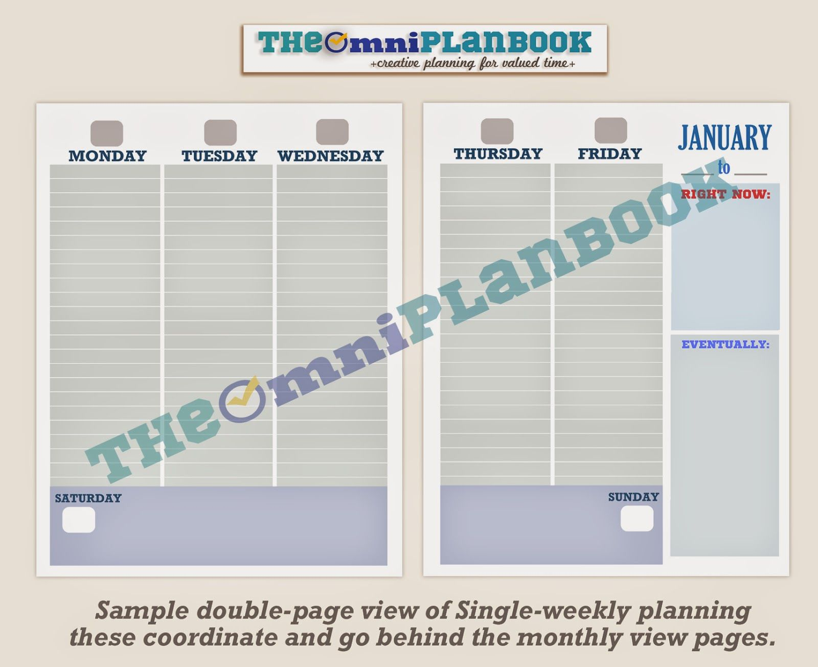 omni planning planbook single weekly planning and planner