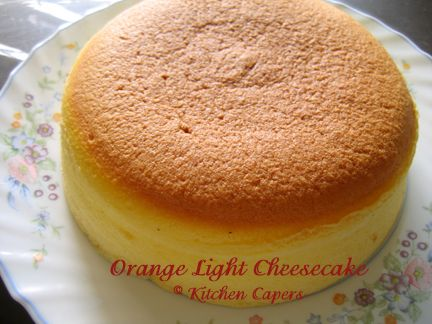 Kitchen Capers :: View Topic   Orange Light Cheesecake(recipe And Pic)