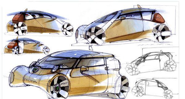 Skoda Micro Taxi. Designers: Maxim Shershnev & Tigran Lalayan