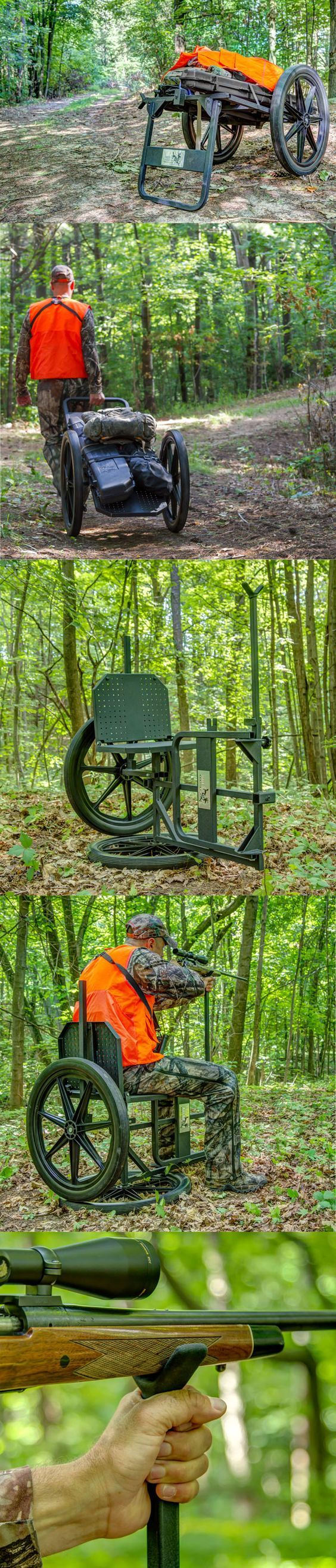 Bow hunting chair - Kill Shot Throne Multipurpose Game Cart Hunting Chair