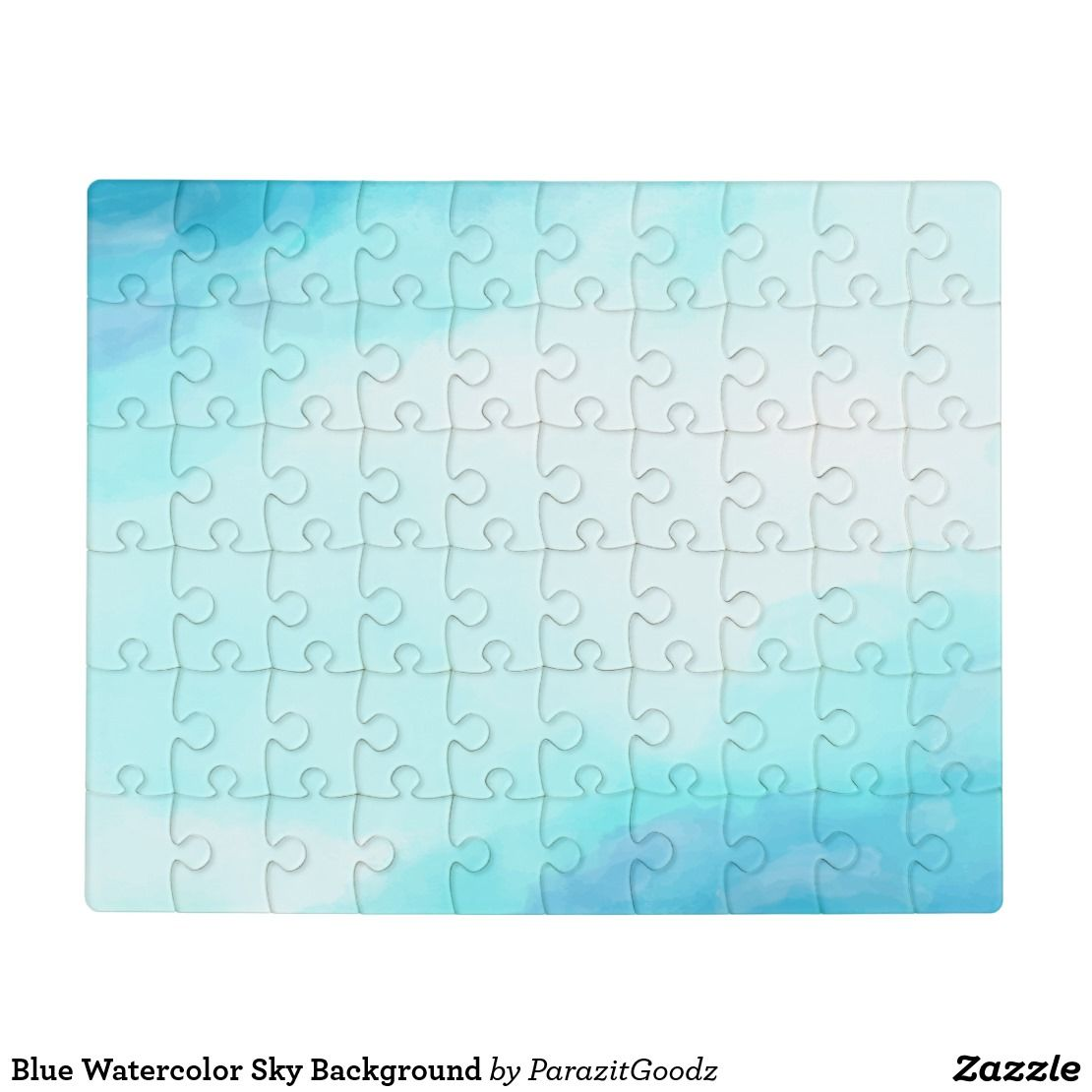 Blue Watercolor Sky Background Jigsaw Puzzle Zazzle Com Watercolor Sky Blue Watercolor Jigsaw Puzzles