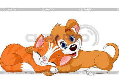 Картинки по запросу кошка и собака мультяшные | кошка с ...