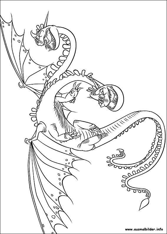drachenzähmen leicht gemacht malvorlagen | ausmalbilder