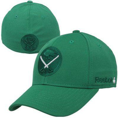 new styles e320e bc63b Reebok Buffalo Sabres St. Patrick's Day Flex Hat - Kelly ...