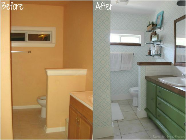 Cheap Small Bathroom Remodel Before And After